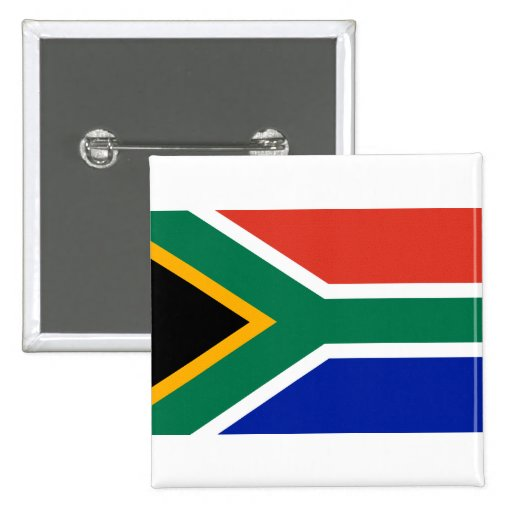 South Africa Flag Pinback Button