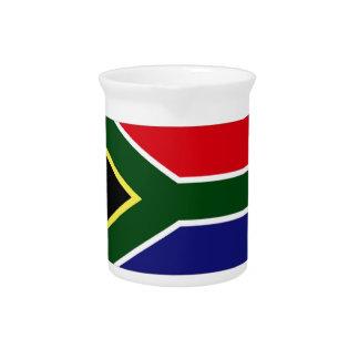 South Africa Flag Beverage Pitcher