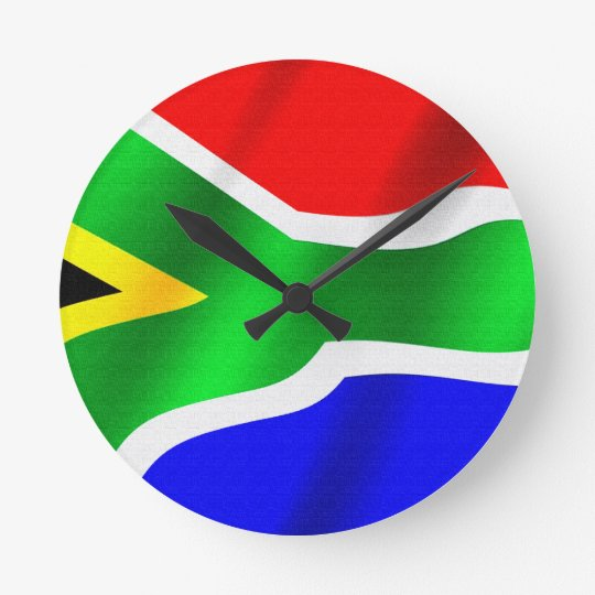 SOUTH AFRICA Flag Proud Patriotic Wall Clock