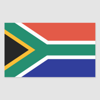 South Africa Flag Rectangular Sticker