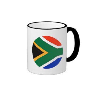 South Africa Flag Ringer Mug