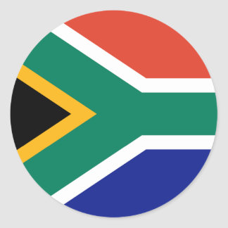 South Africa Flag Round Stickers (pack)