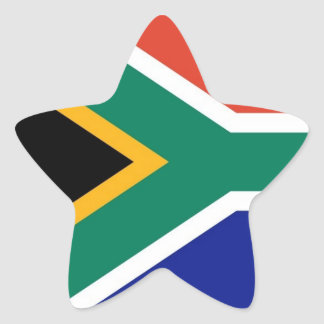 South Africa flag star stickers