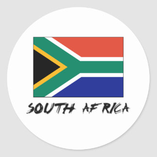South Africa Flag Classic Round Sticker