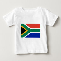 South Africa Flag The MUSEUM Zazzle Gifts Template Baby T-Shirt