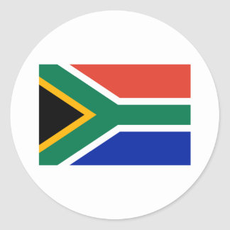 South Africa Flag The MUSEUM Zazzle Gifts Template Classic Round Sticker
