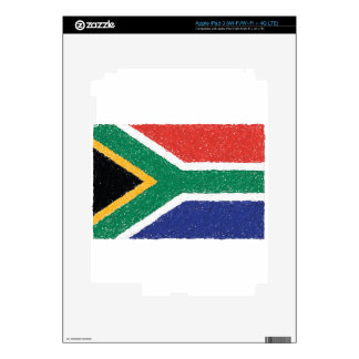 South Africa Flag Theme Decal For iPad 3