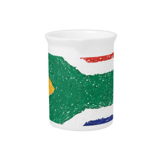 South Africa Flag Theme Beverage Pitcher