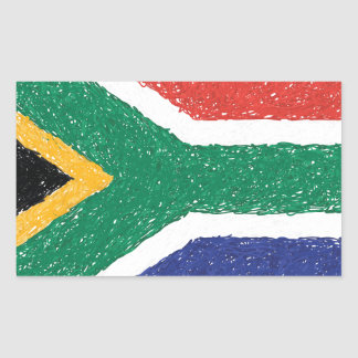 South Africa Flag Theme Rectangular Sticker