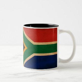 South Africa Flag Two-Tone Coffee Mug