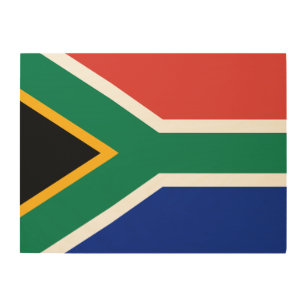 African Flag Wood Wall Art Zazzle