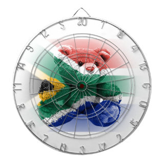 South Africa Flag wrapped Teddy Bear Dartboard With Darts