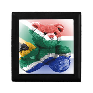 South Africa Flag wrapped Teddy Bear Gift Box