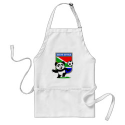 Apron with South Africa Football Panda design