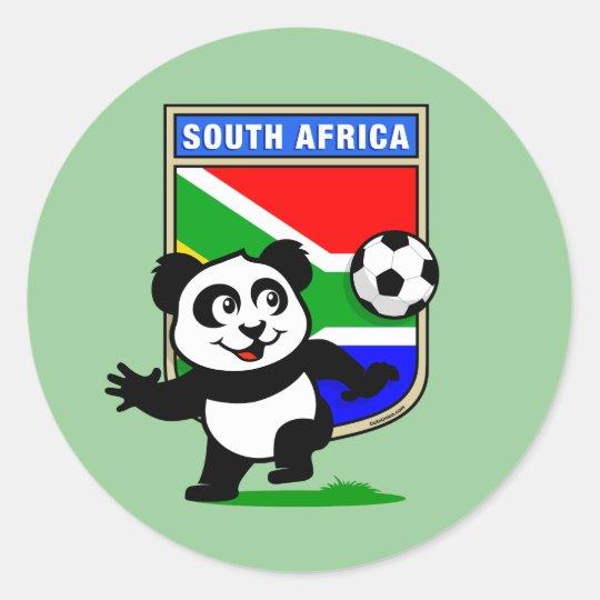 South Africa Football Panda Classic Round Sticker