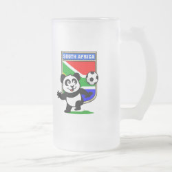 Frosted Glass Mug with South Africa Football Panda design