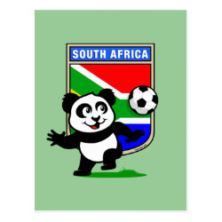 Postcard with South Africa Football Panda design