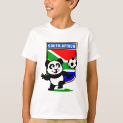 Kids' Hanes TAGLESS® T-Shirt with South Africa Football Panda design
