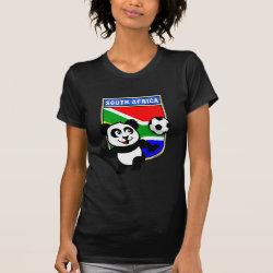 Women's American Apparel Fine Jersey Short Sleeve T-Shirt with South Africa Football Panda design