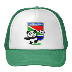 Trucker Hat with South Africa Football Panda design