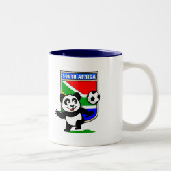 Two-Tone Mug with South Africa Football Panda design