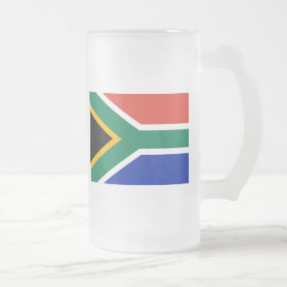 south africa frosted glass beer mug