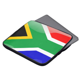 South Africa glossy flag Computer Sleeve
