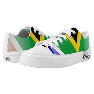 South Africa glossy flag Low-Top Sneakers