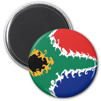 South Africa Gnarly Flag 2 Inch Round Magnet