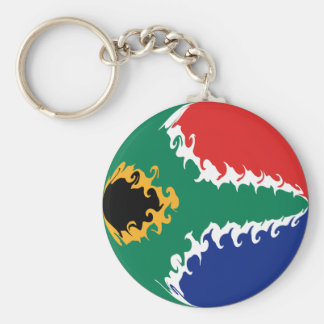 South Africa Gnarly Flag Basic Round Button Keychain
