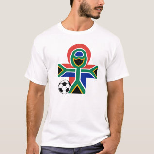 South Africa Happy Flag Soccer Football T Shirt at Zazzle