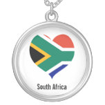 South Africa heart necklace
