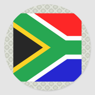 South Africa High quality Flag Classic Round Sticker