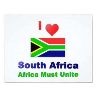 South Africa 4.25x5.5 Paper Invitation Card
