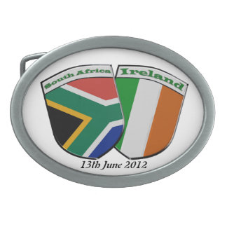 South Africa/Ireland Friendship Flags Belt Buckle