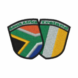 South Africa/Ireland Friendship Flags Embroidered Embroidered Shirt