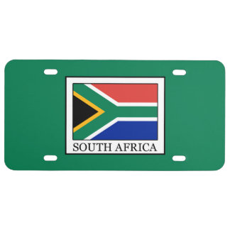 South Africa License Plate