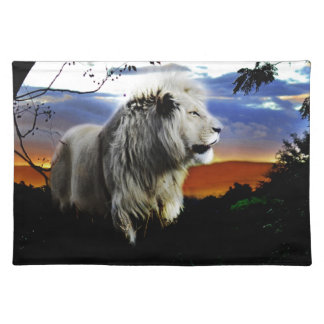 South Africa Lion in the Jungle Cloth Placemat