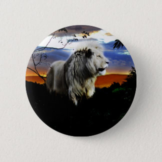 South Africa Lion in the Jungle Pinback Button