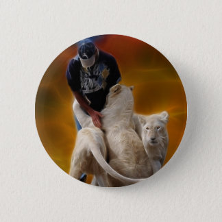 South Africa Lion Whisperer Pinback Button