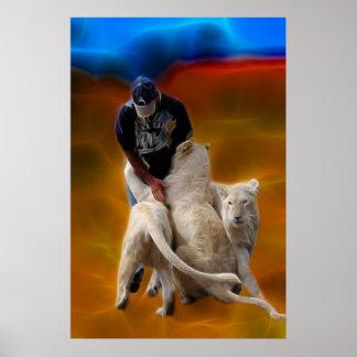 South Africa Lion Whisperer Poster
