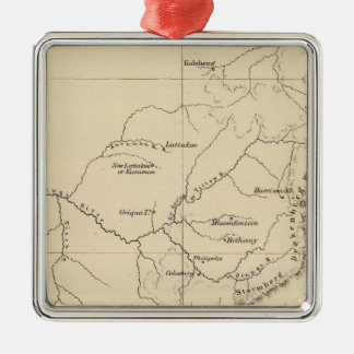South Africa Lithographed Map Christmas Ornaments