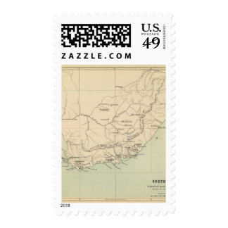 South Africa Lithographed Map Postage
