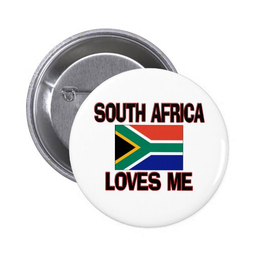 South Africa Loves Me Pinback Buttons