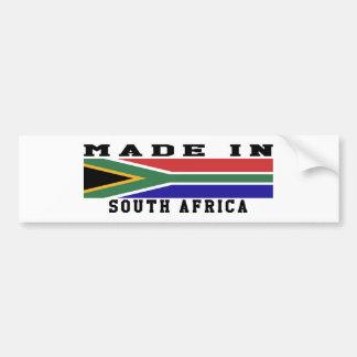 South Africa Made In Designs Bumper Sticker