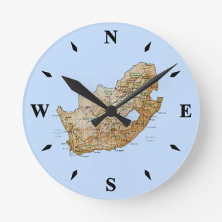 South Africa Map Clock