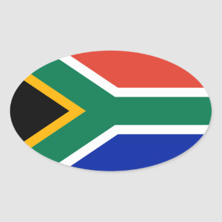 South Africa National Flag Oval Sticker