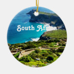 South Africa Double-Sided Ceramic Round Christmas Ornament