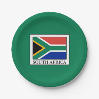 South Africa Paper Plate