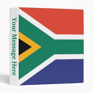 South Africa Plain Flag Binder